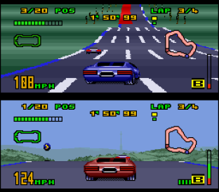 Top Gear 3000 SNES 64
