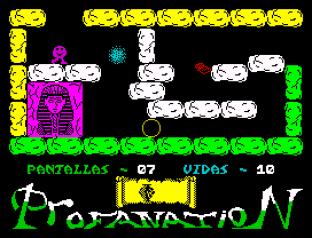 Abu Simbel Profanation ZX Spectrum 09