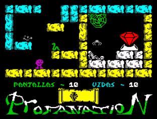 Abu Simbel Profanation ZX Spectrum 12