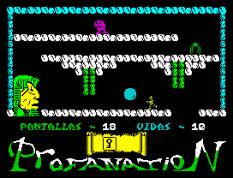 Abu Simbel Profanation ZX Spectrum 22