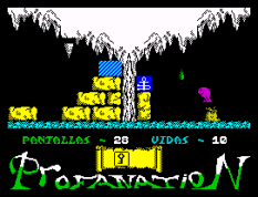 Abu Simbel Profanation ZX Spectrum 38