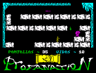 Abu Simbel Profanation ZX Spectrum 45