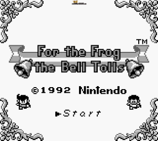 For The Frog The Bell Tolls Game Boy 001