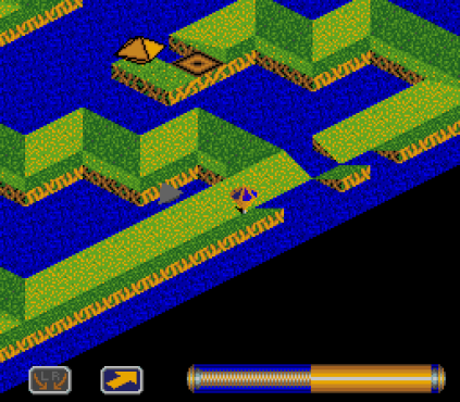 Spindizzy Worlds SNES 64