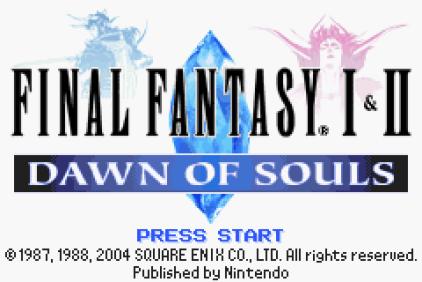 Final Fantasy 1 and 2 - Dawn of Souls GBA 001