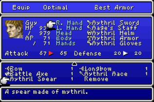 Final Fantasy 1 and 2 - Dawn of Souls GBA 142