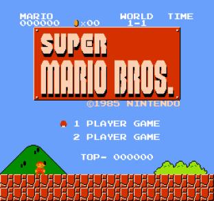 Super Mario Bros NES 01