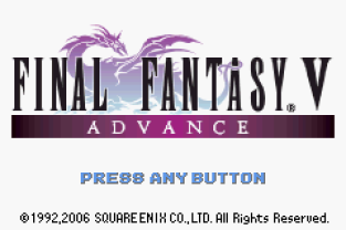 Final Fantasy 5 Advance GBA 001
