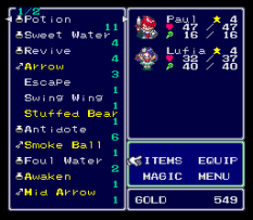 Lufia and the Fortress of Doom SNES 142