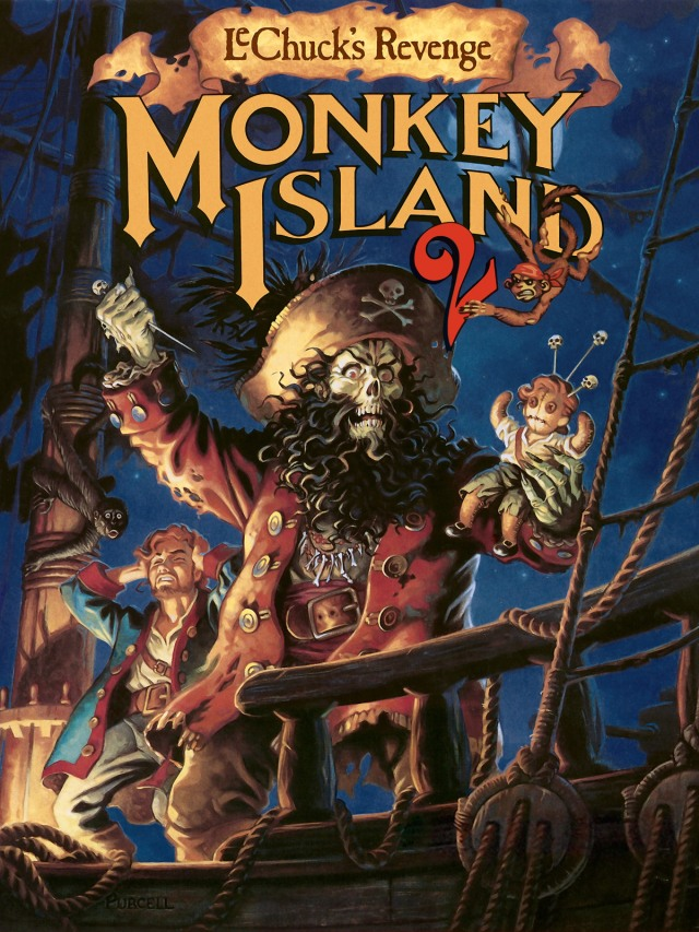 Monkey Island 2 artwork by Steve Purcell.