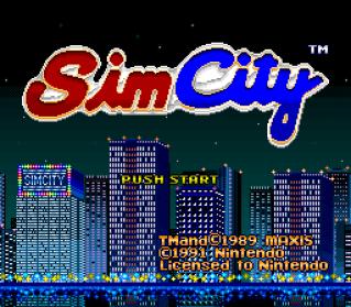 SimCity SNES 001