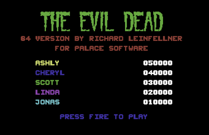 The Evil Dead C64 01
