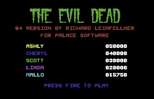 The Evil Dead C64 41