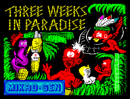 Three Weeks in Paradise ZX Spectrum 01