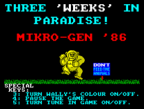 Three Weeks in Paradise ZX Spectrum 02