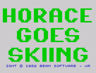Horace Goes Skiing ZX Spectrum 01