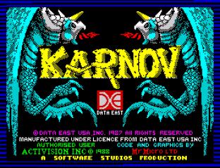 Karnov ZX Spectrum 01