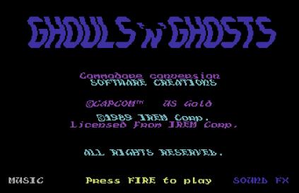 Ghouls N Ghosts C64 01