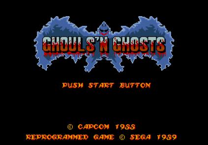 Ghouls N Ghosts Megadrive 001