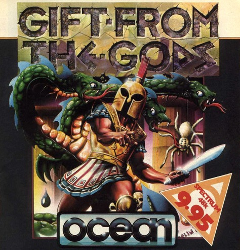 Bob Wakelin's classic Gift From The Gods artwork for Ocean Software.