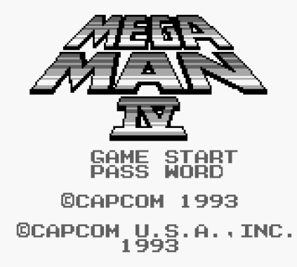 Mega Man 4 Game Boy 001