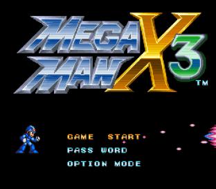 Mega Man X3 SNES 001