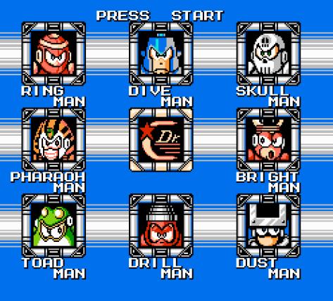 Mega Man 4 NES Baddies Wide
