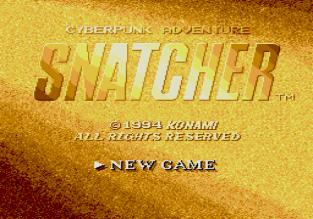 Snatcher Sega CD 001