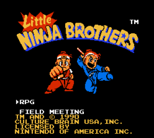 Little Ninja Brothers NES 001