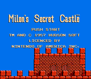 Milon's Secret Castle NES 01