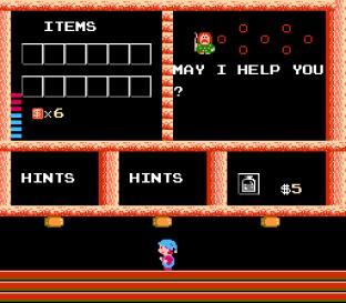 Milon's Secret Castle NES 12