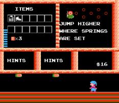Milon's Secret Castle NES 32