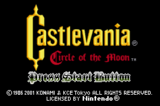 Castlevania - Circle of the Moon GBA 001