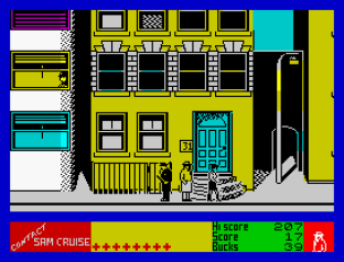 Contact Sam Cruise ZX Spectrum 09