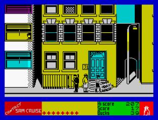 Contact Sam Cruise ZX Spectrum 09