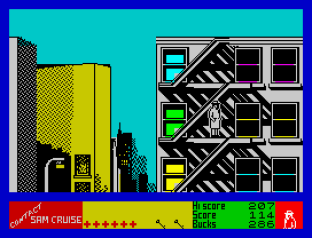 Contact Sam Cruise ZX Spectrum 23