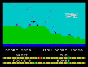 Harrier Attack ZX Spectrum 34