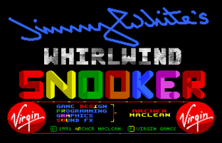 Jimmy White's Whirlwind Snooker Amiga 01