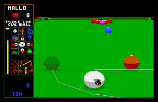 Jimmy White's Whirlwind Snooker Amiga 12