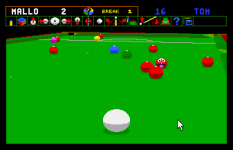 Jimmy White's Whirlwind Snooker Amiga 32