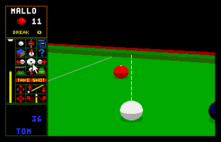 Jimmy White's Whirlwind Snooker Amiga 45