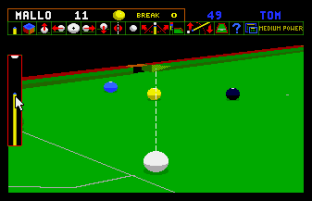 Jimmy White's Whirlwind Snooker Amiga 53