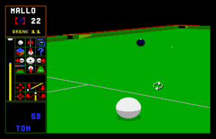 Jimmy White's Whirlwind Snooker Amiga 64