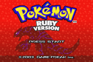 Pokemon Ruby Version GBA 001
