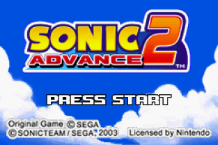 Sonic Advance 2 GBA 001