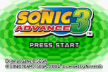 Sonic Advance 3 GBA 002