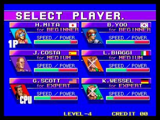 Windjammers Neo Geo 78