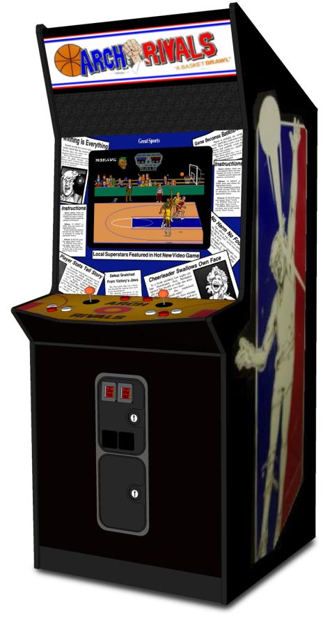Arch Rivals Arcade Cabinet 1