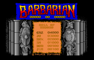 Barbarian Atari ST 01