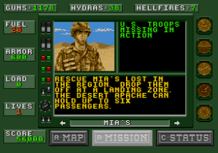 Desert Strike - Return to the Gulf Megadrive 031